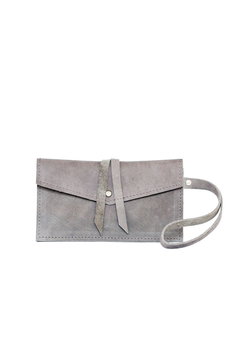 Phone-wallet bag taupe voor